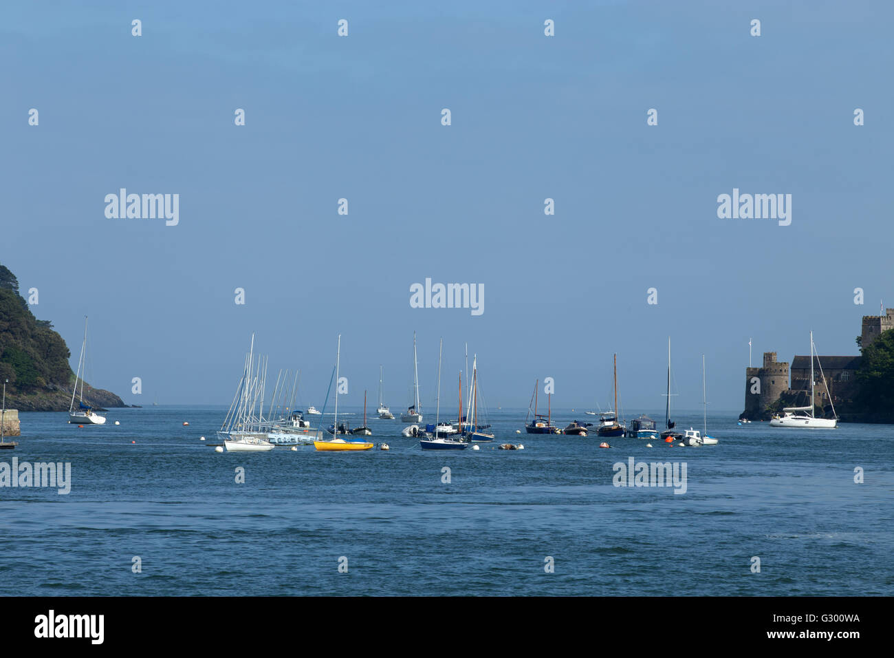 Looking out to sea along the River Dart from Dartmouth - Stock Image