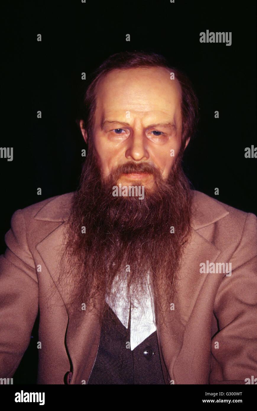 Fjordor Dostojewski: Wachsfigur, Russisches Haus, Friedrichstrasse, Berlin-Mitte - Stock Image
