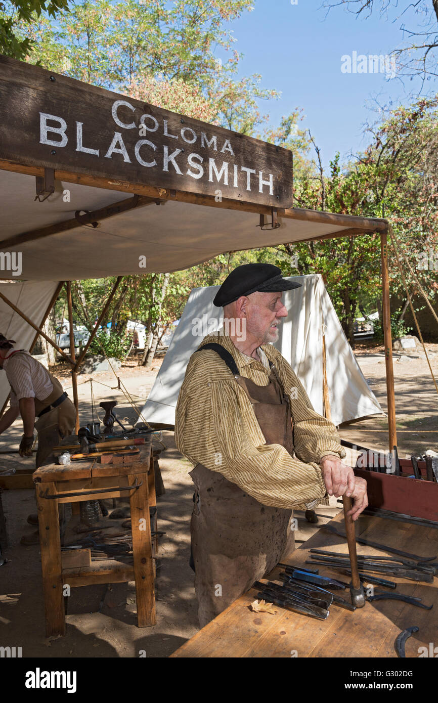 California, Coloma, Marshall Gold Discovery State Historic Park, 'Gold Rush Live'  living history event - Stock Image