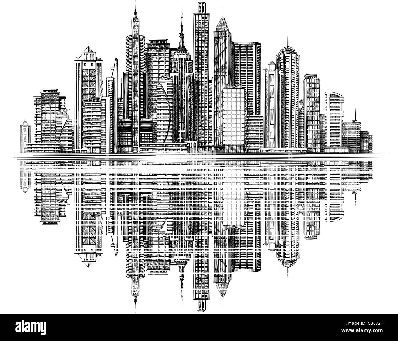 modern city skyline silhouette vector architecture and