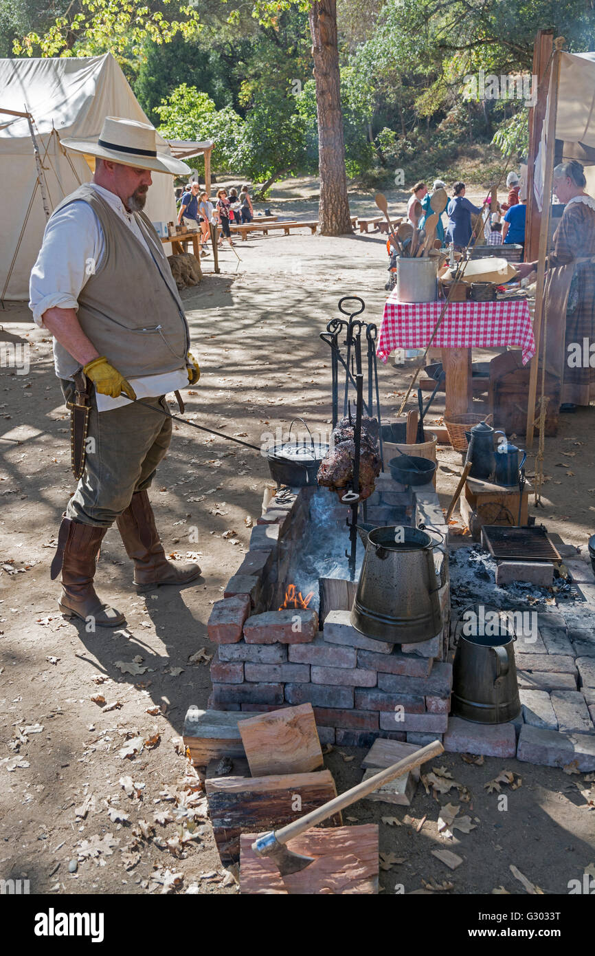 California, Coloma, Marshall Gold Discovery State Historic Park, 'Gold Rush Live'  living history event, - Stock Image