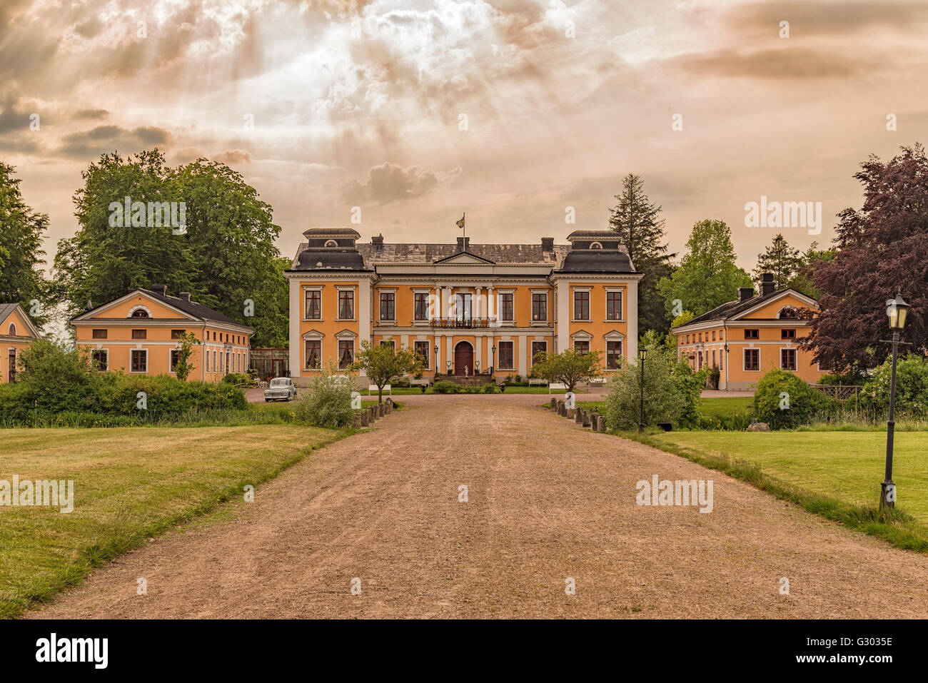An image of Skottorps castle situated in the halland region of Sweden. - Stock Image