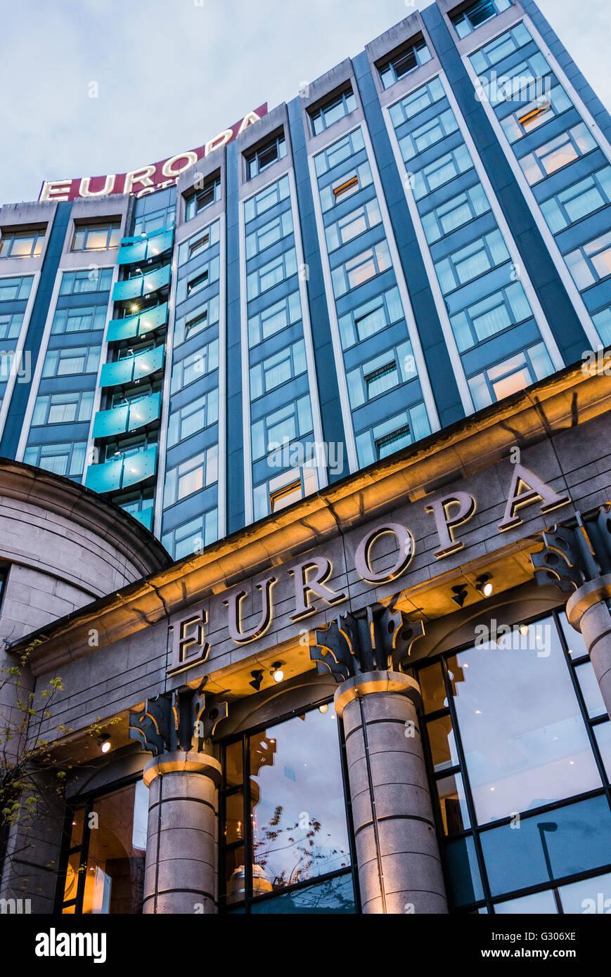 Europa Hotel, Belfast - Stock Image