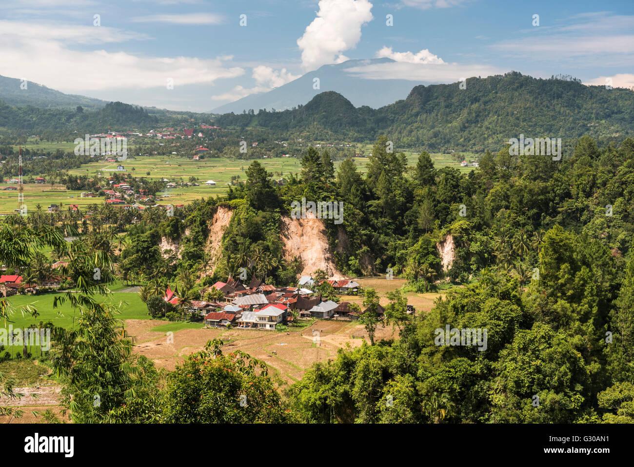 Traditional farming village of Sungai Angek near Bukittinggi, West Sumatra, Indonesia, Southeast Asia, Asia - Stock Image