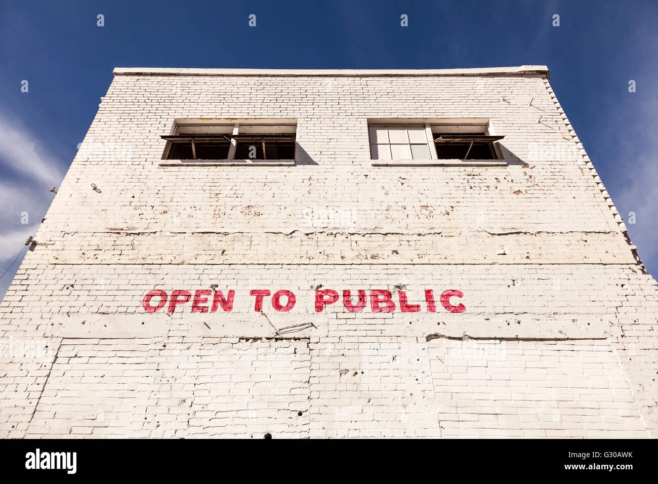 Open to public building - Stock Image