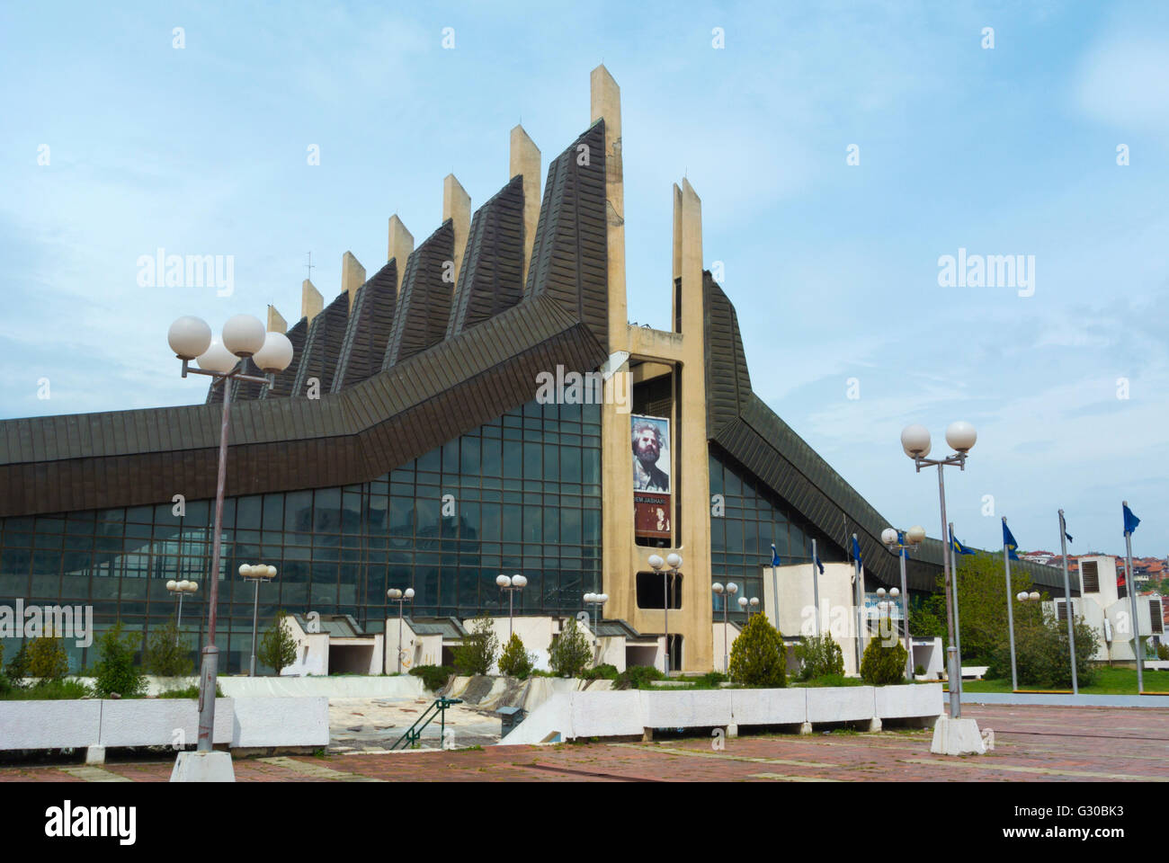 Pallati i Rinise dhe Sporteve, Palace of Youth and Sports, Pristina, Kosovo, Serbia - Stock Image