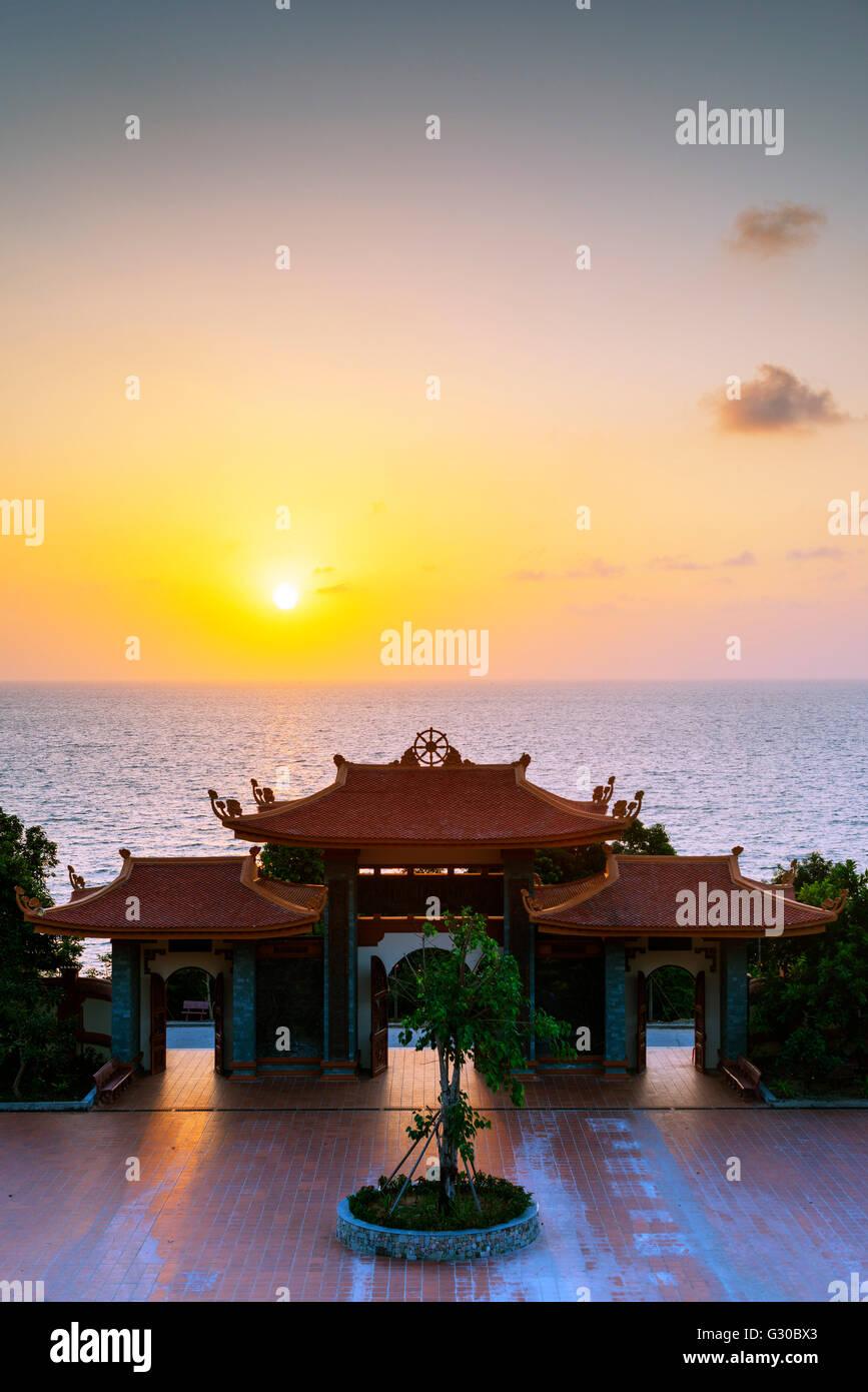 Thien Vien Truc Lam Ho temple, Phu Quoc Island, Vietnam, Indochina, Southeast Asia, Asia - Stock Image
