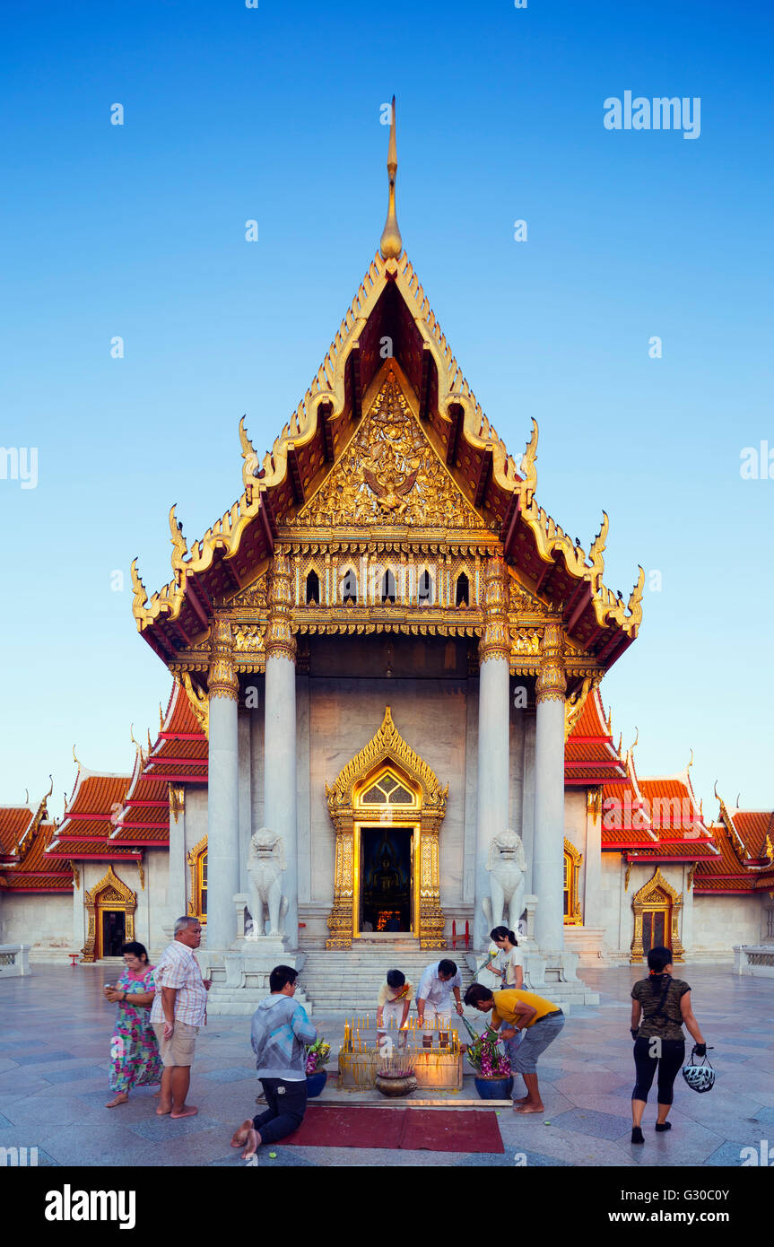 South East Asia, Thailand, Bangkok, The Marble Temple, Wat Benchamabophit - Stock Image