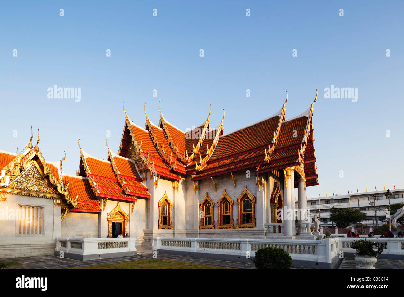 The Marble Temple (Wat Benchamabophit), Bangkok, Thailand, Southeast Asia, Asia - Stock Image