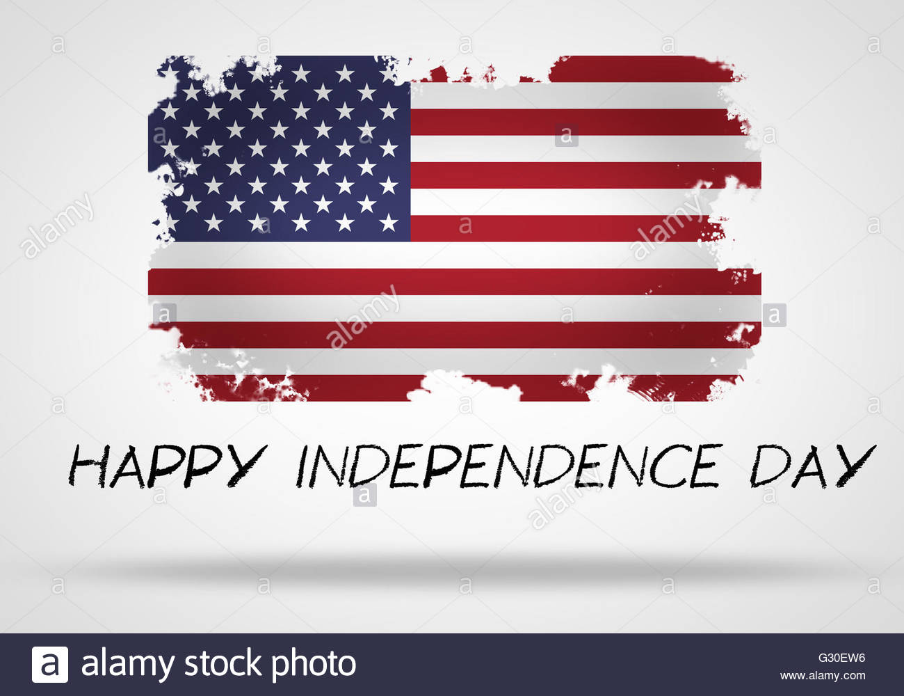 Happy Independence Day - Stock Image
