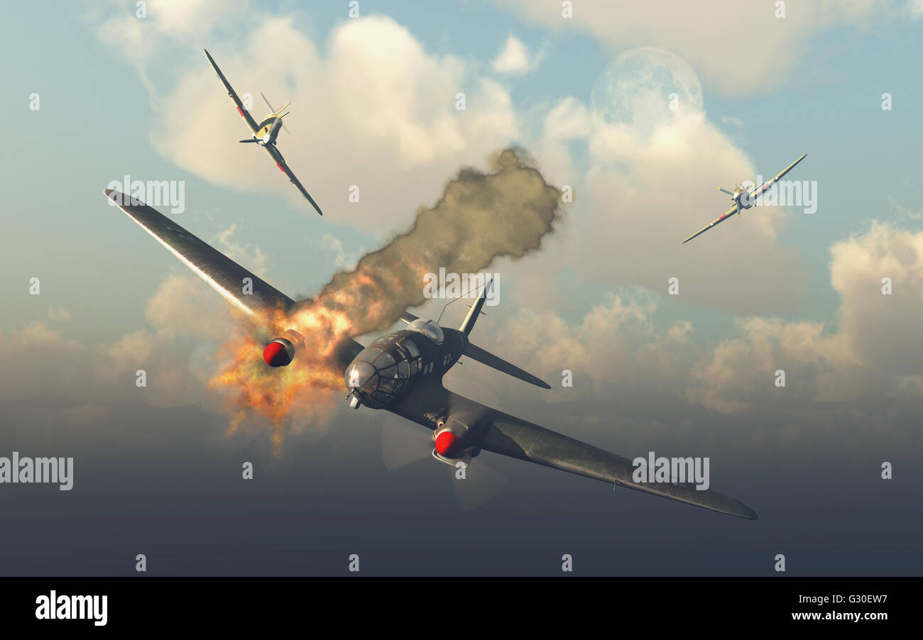 The Battle Of Britain. - Stock Image