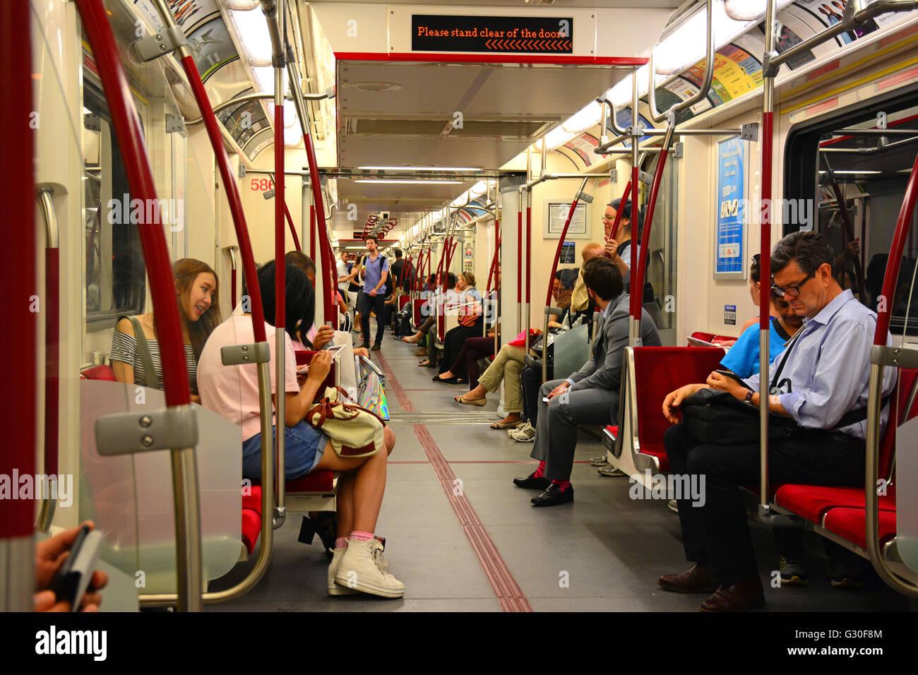 Subway passengers,Toronto, Canada - Stock Image