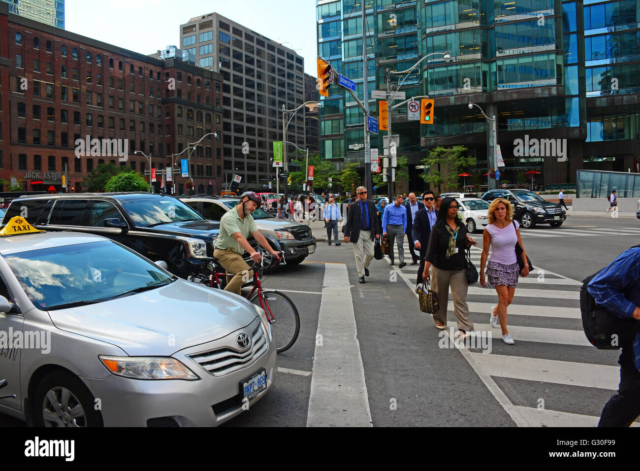 Toronto downtown after work rush - Stock Image