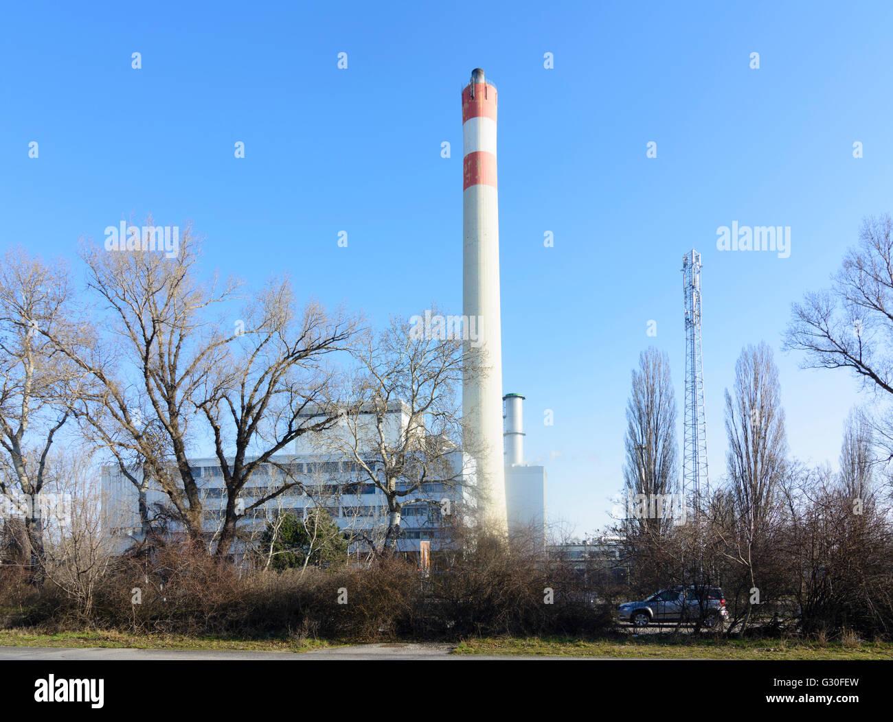 Steam power station Donaustadt of Wienenergie, Austria, Wien 22., Wien, Vienna - Stock Image