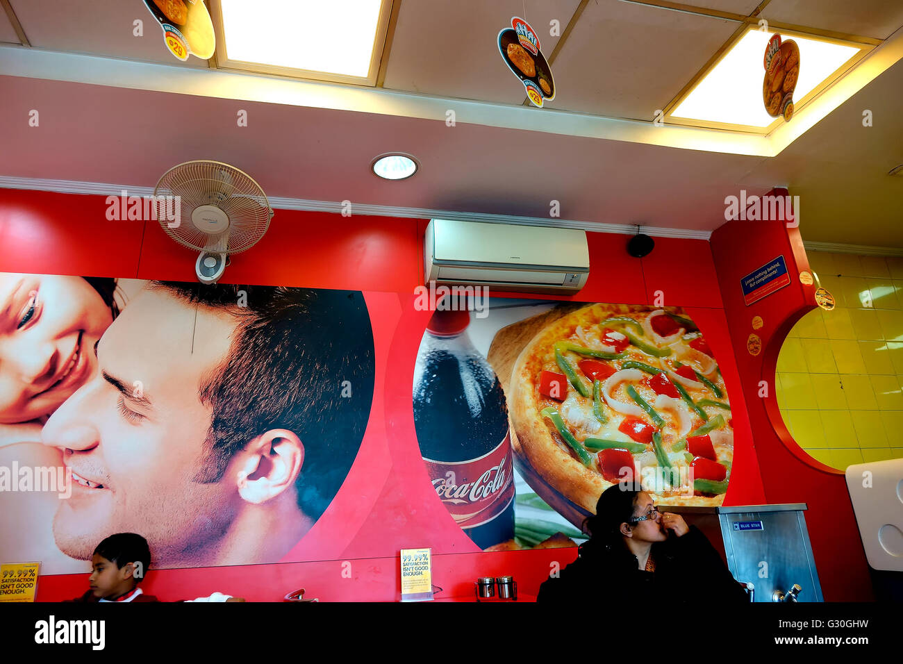 Dominos Pizza outlet in Himachal Pradesh, India - Stock Image