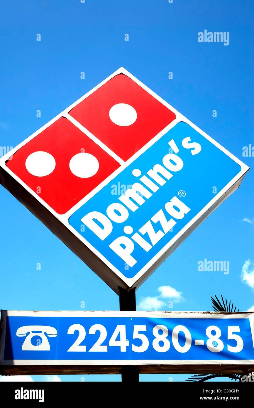 At Domino's Pizza, Himachal Pradesh,India Stock Photo