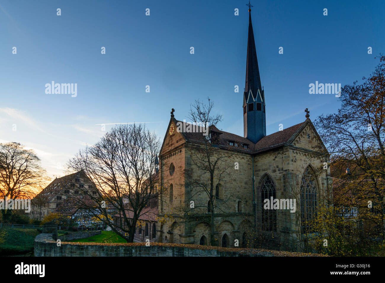 Maulbronn Monastery : church Klosterkirche, Germany, Baden-Württemberg, Kraichgau-Stromberg, Maulbronn - Stock Image