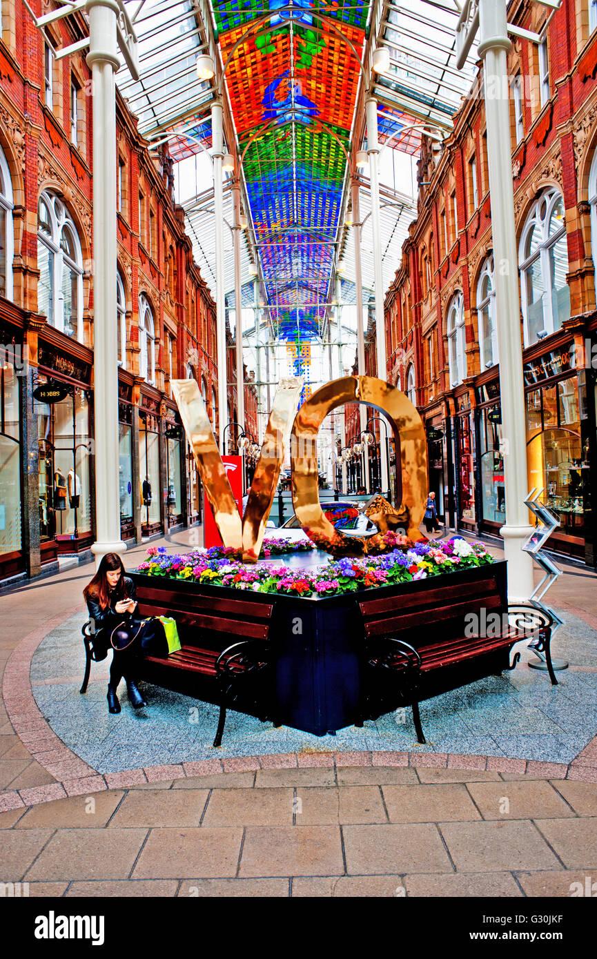 Victorian Quarter, Leeds - Stock Image