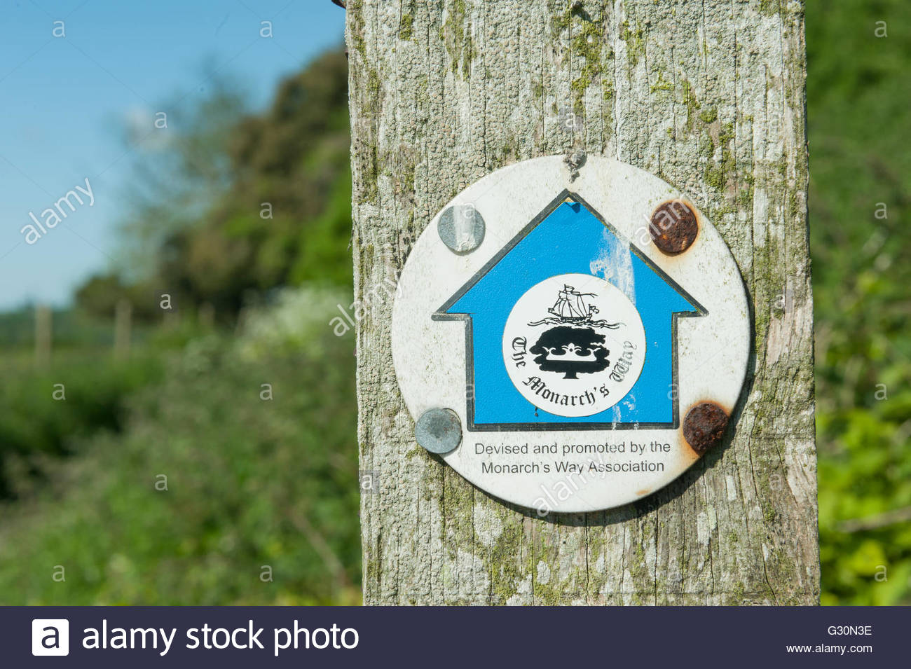 nr Findon Sussex UK Monarchs Way walk - Stock Image