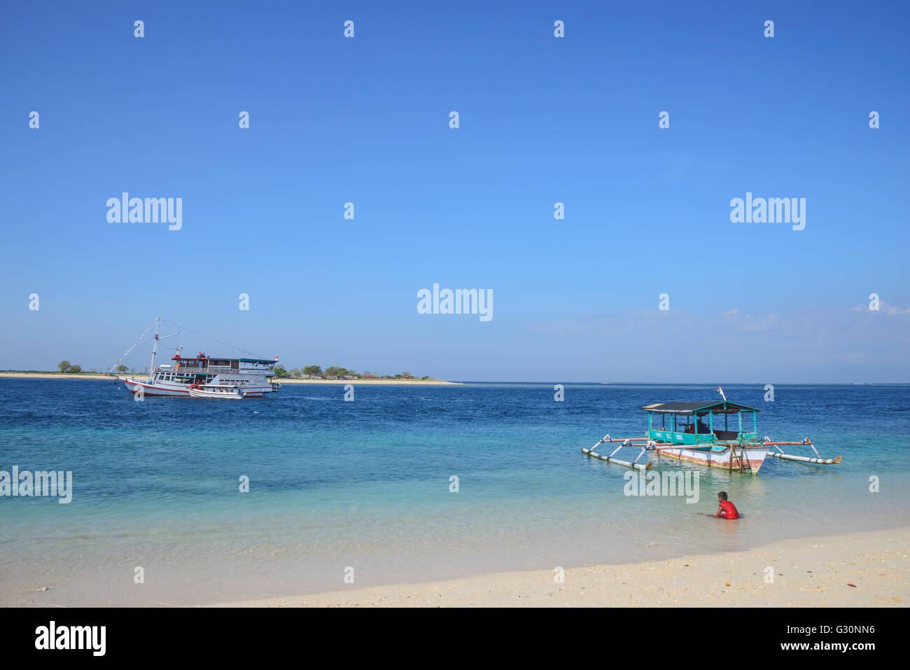 Gili Lampu Island near Lombok - Stock Image