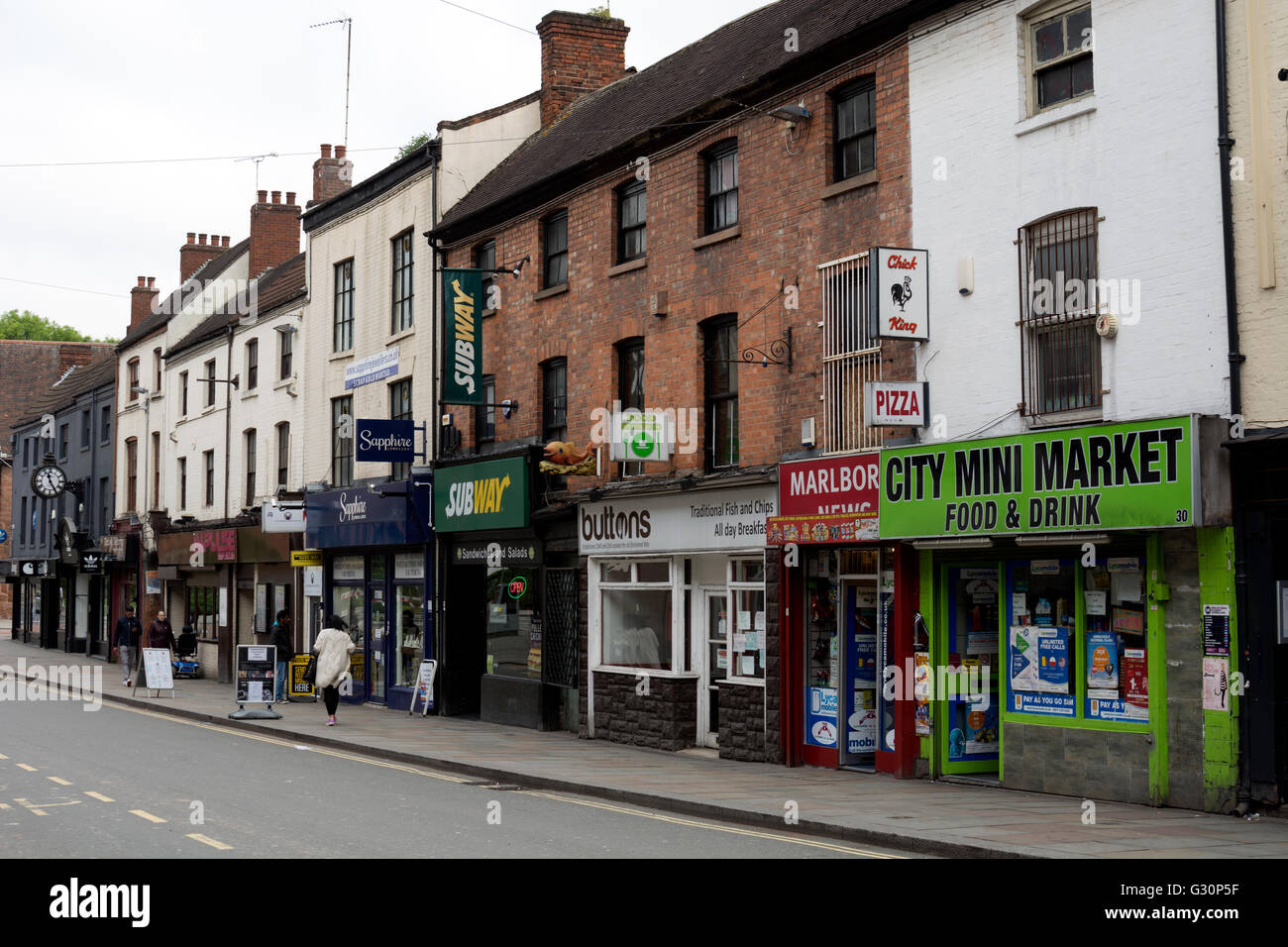 Shops in Burges, Coventry, UK - Stock Image