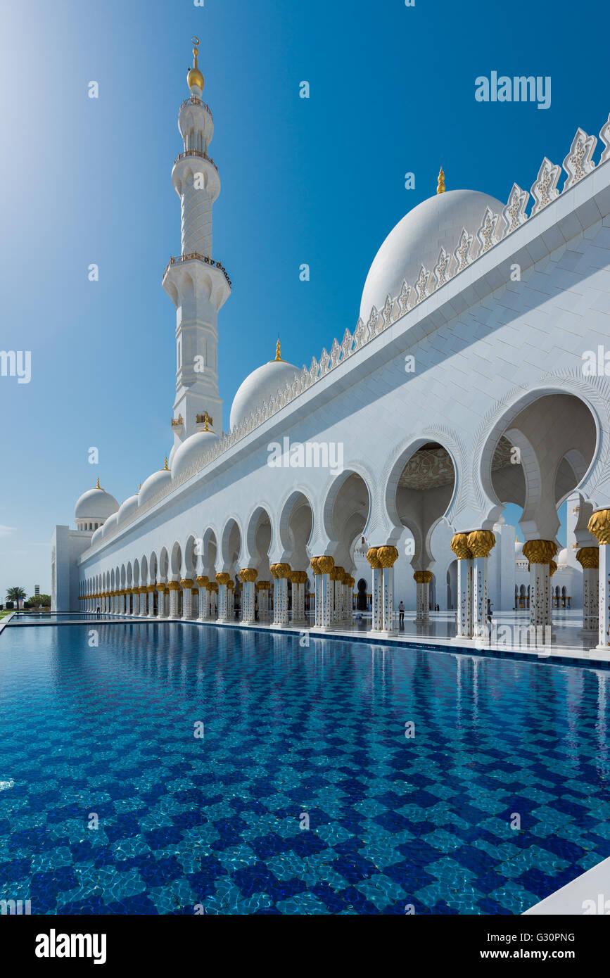 Transcendence, Sheikh Zayed Grand Mosque, Abu Dhabi Stock Photo