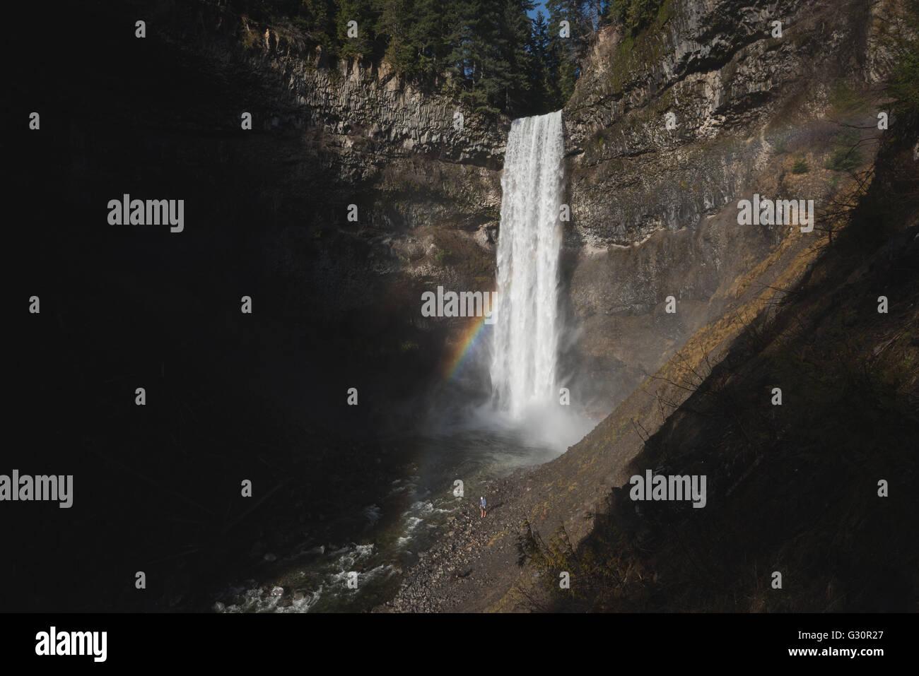 Brandywine falls near Whistler in Canada - Stock Image