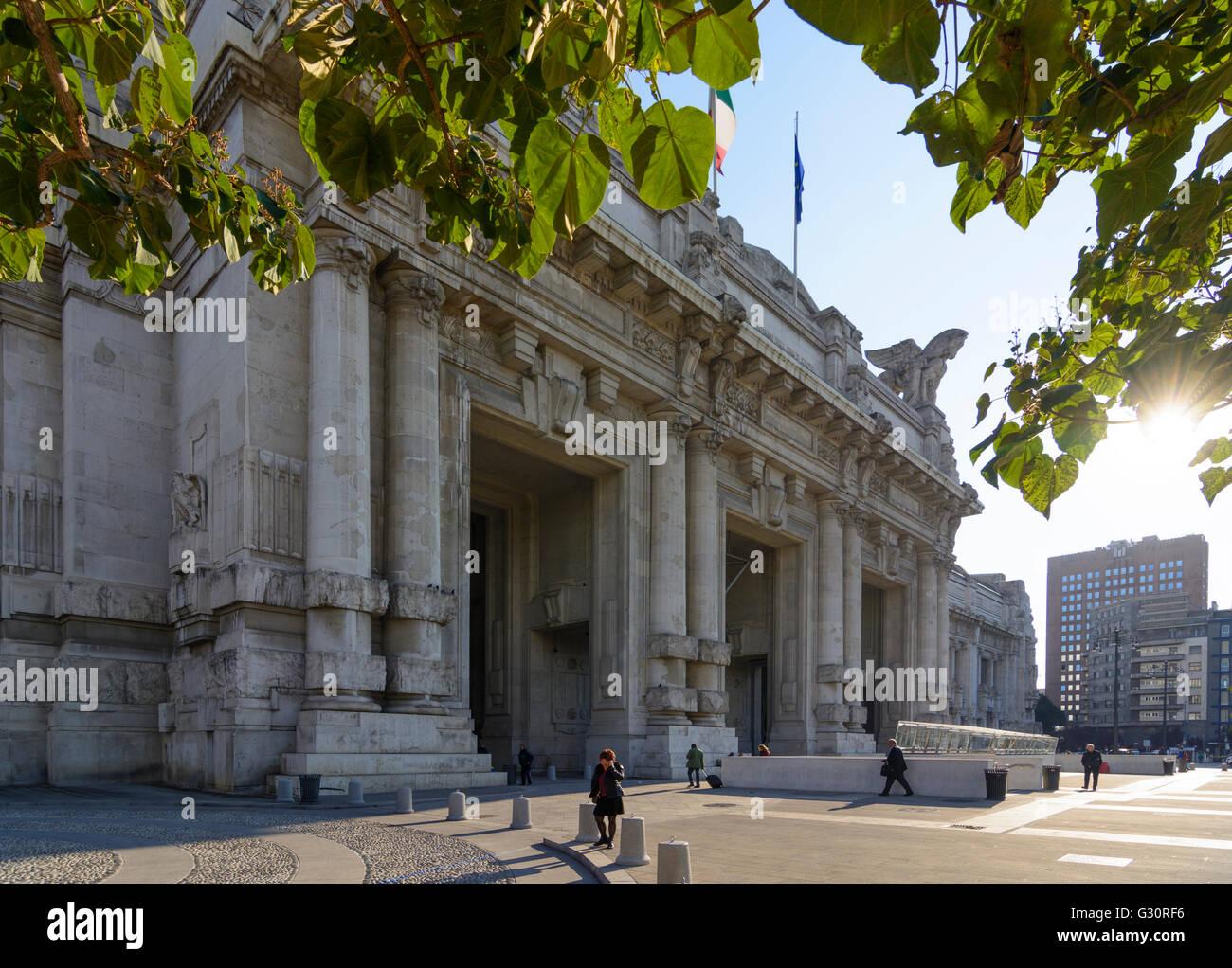 railway station Milano Centrale, Italy, Lombardei, Lombardy, , Mailand, Milan - Stock Image