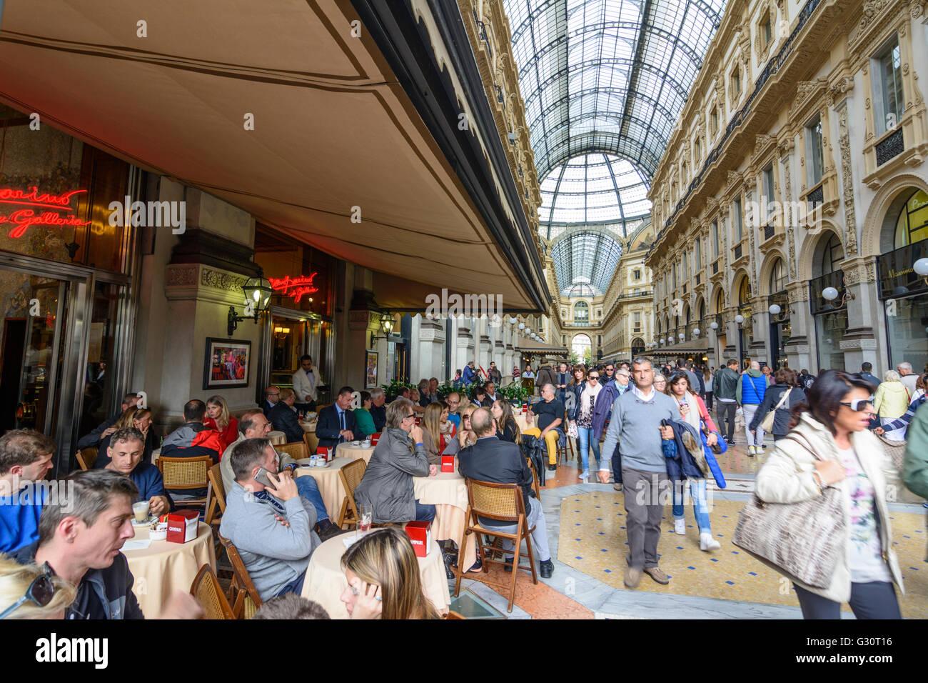 Galleria Vittorio Emanuele Ii Bar Stock Photos Galleria