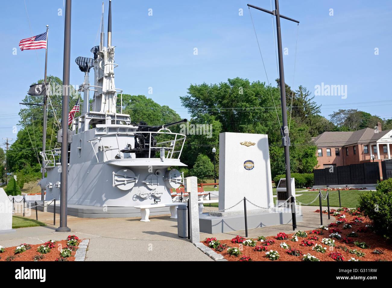 World War II Submarine Memorial East, Groton, Connecticut - Stock Image