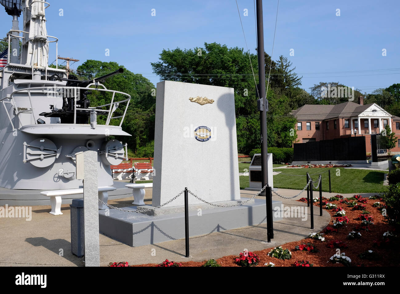WWII Submarine Memorial East in Groton, Connecticut - Stock Image