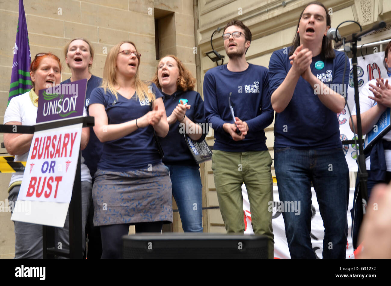 Department Health,Whitehall,London,UK.4 June 2016 Nurses protest outside Richmond House Department Health against - Stock Image