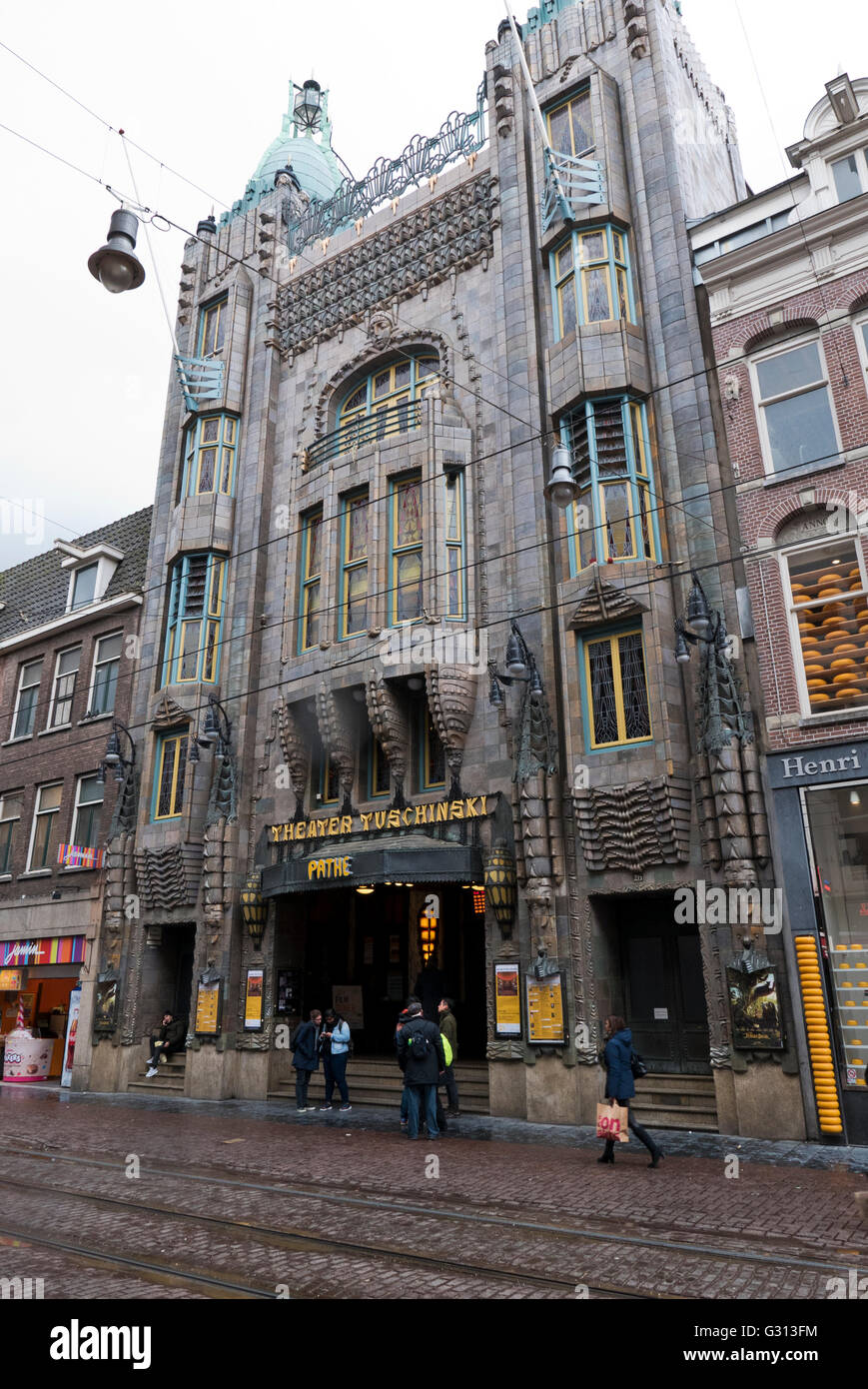 Pathé Tuschinski cinema in Amsterdam, Holland, Netherlands. - Stock Image