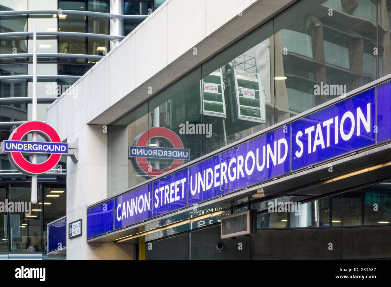Cannon Street Underground Station, London, UK - Stock Image
