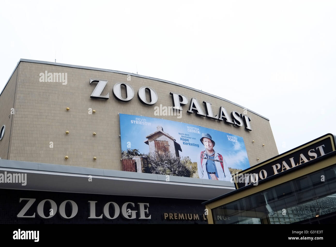 Berlin, Germany, lettering Zoo Palast - Stock Image