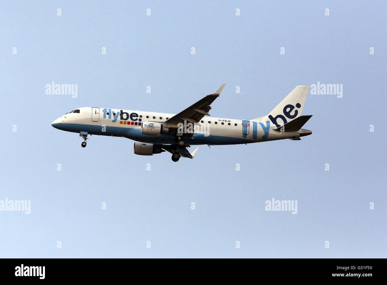 Hannover, Germany, Embraer 175-200 Airline flybe - Stock Image