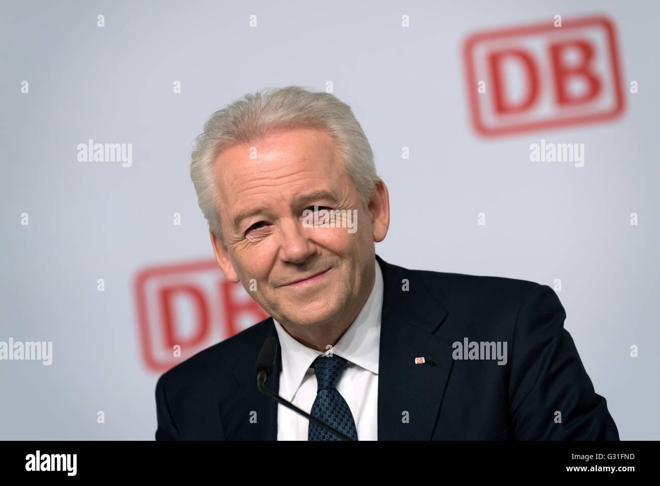 Berlin, Germany, Ruediger Grube, CEO of Deutsche Bahn - Stock Image