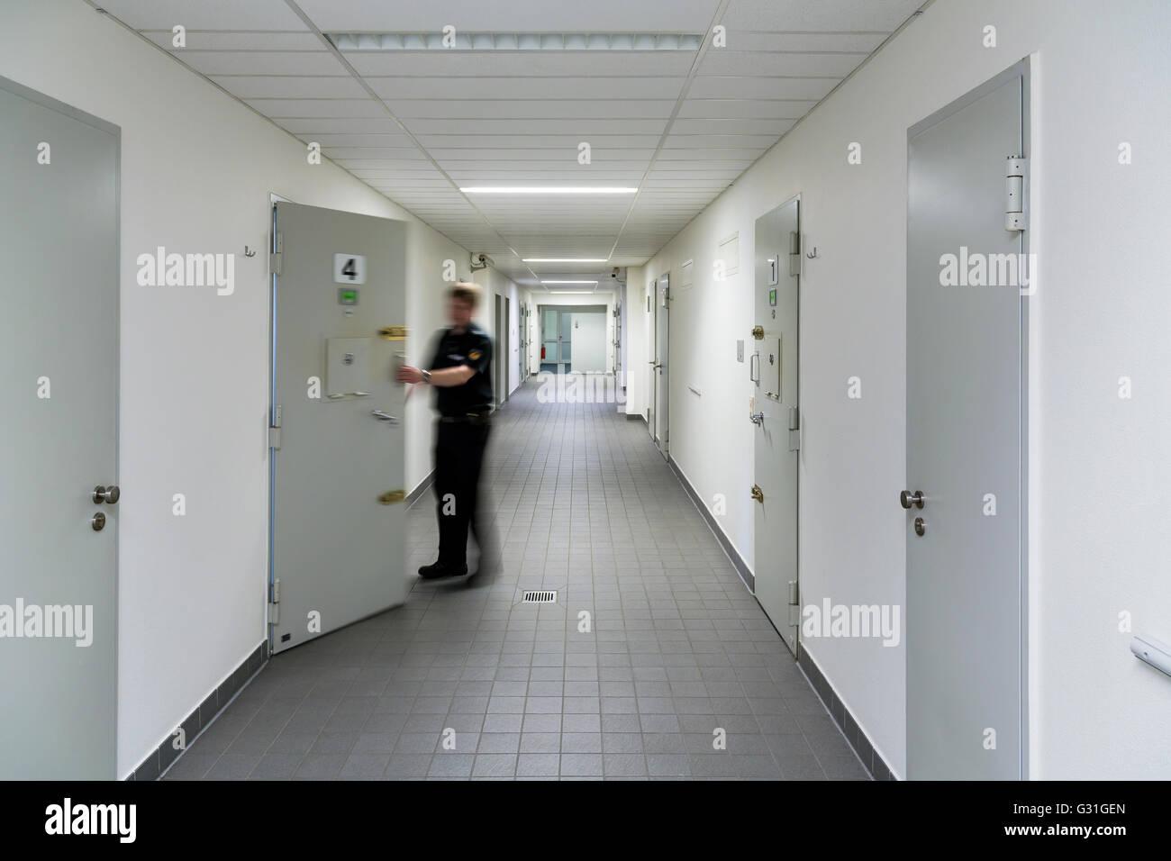 Bremen, Germany, cellblock of police custody - Stock Image