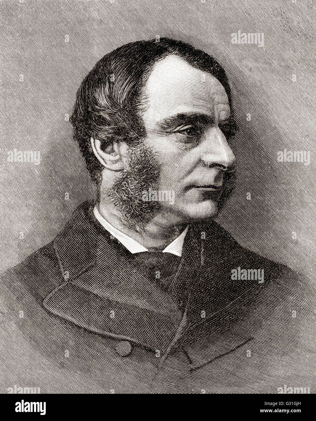 Charles Kingsley, 1819 – 1875.  Broad church priest of the Church of England,  university professor, historian and - Stock Image