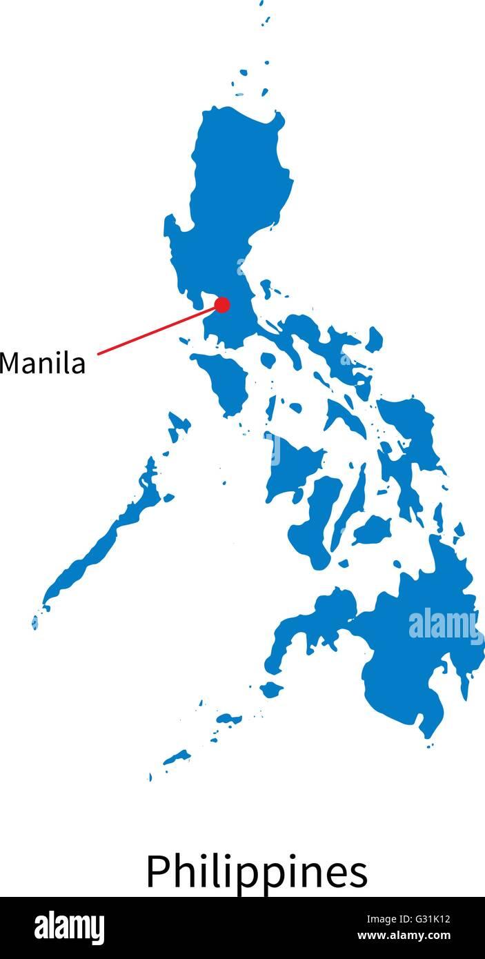 Detailed vector map of Philippines and capital city Manila ... on hanoi vietnam map, jakarta indonesia map, singapore map, manila suburbs, davao city, mumbai india map, delhi india map, ho chi minh city, quezon city, dhaka bangladesh map, phnom penh cambodia map, beijing china map, mexico city map, luzon map, istanbul turkey map, manila street food in, phnom penh, new delhi, cebu city, metro manila, sao paulo brazil map, kuala lumpur, japan map, moscow russia map, cairo egypt map, bangkok thailand map, malaysia map, manila phillipines,