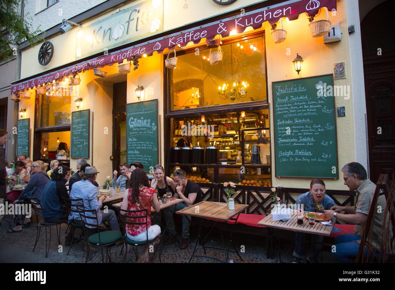Berlin Germany Restaurants Bergmannstrasse Stock Photo