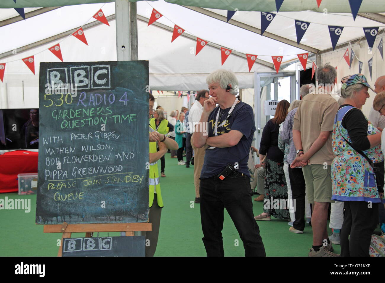 BBC Gardeners Question Time, Hay Festival 2016, Hay-on-Wye, Brecknockshire, Powys, Wales, Great Britain United Kingdom - Stock Image