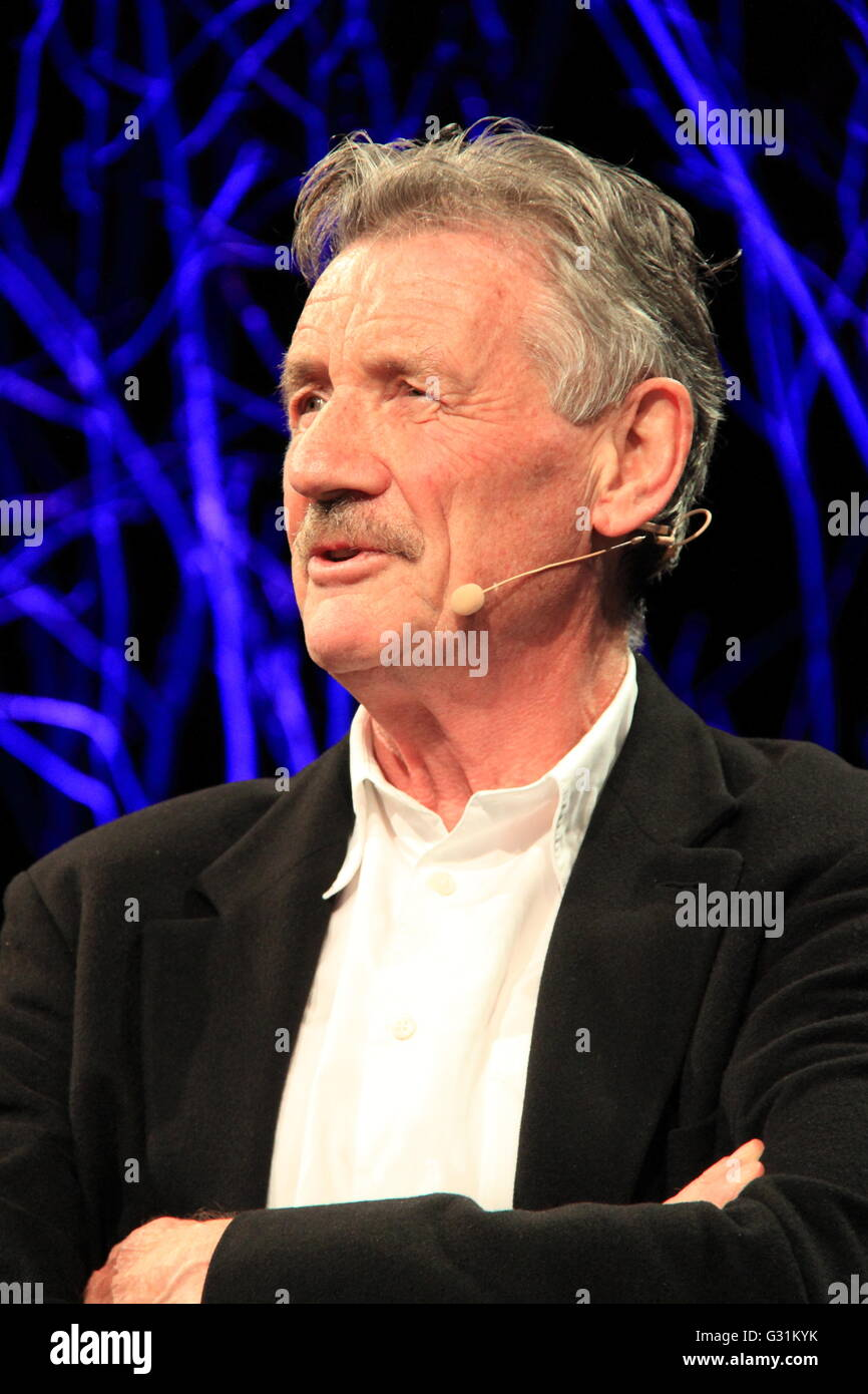 Michael Palin, Hay Festival 2016, Hay-on-Wye, Brecknockshire, Powys, Wales, Great Britain, United Kingdom, UK, Europe - Stock Image