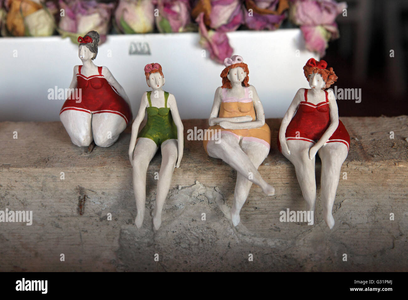 Zuerich, Switzerland, chubby female figures in a shop window - Stock Image