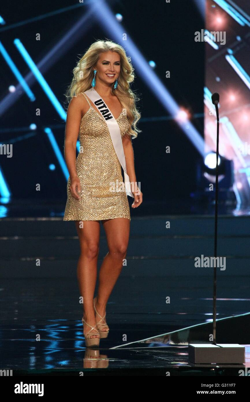 Las Vegas, NV, USA. 5th June, 2016. Miss Utah USA, Teale Murdock inside for The 2016 MISS USA Competition - Part - Stock Image