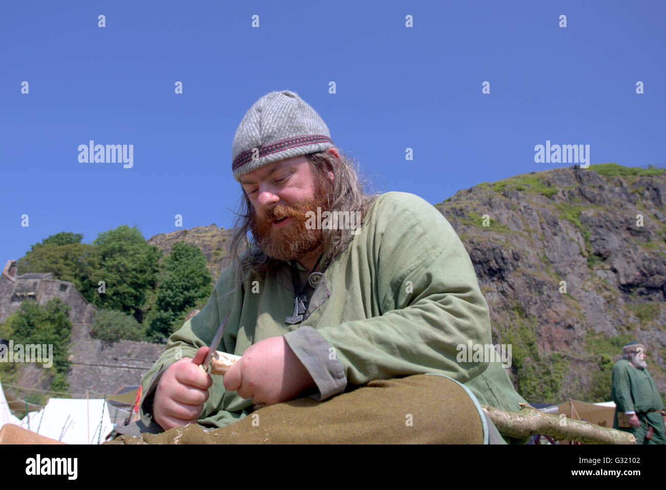 dumbarton castle dumbarton scotland stock photos