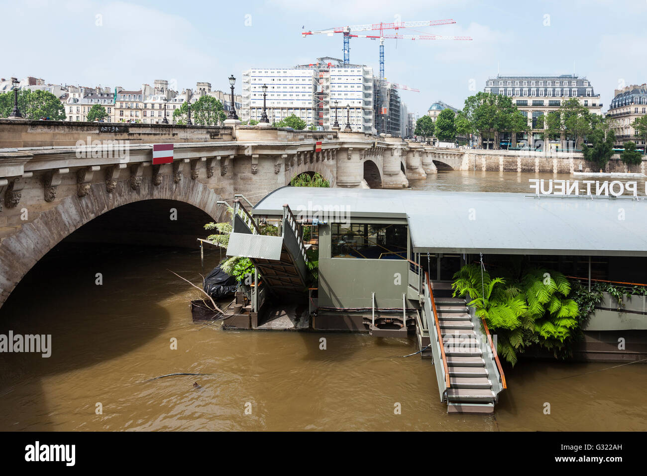 Paris France 06th June 2016 Flood Decrease Decrue De La