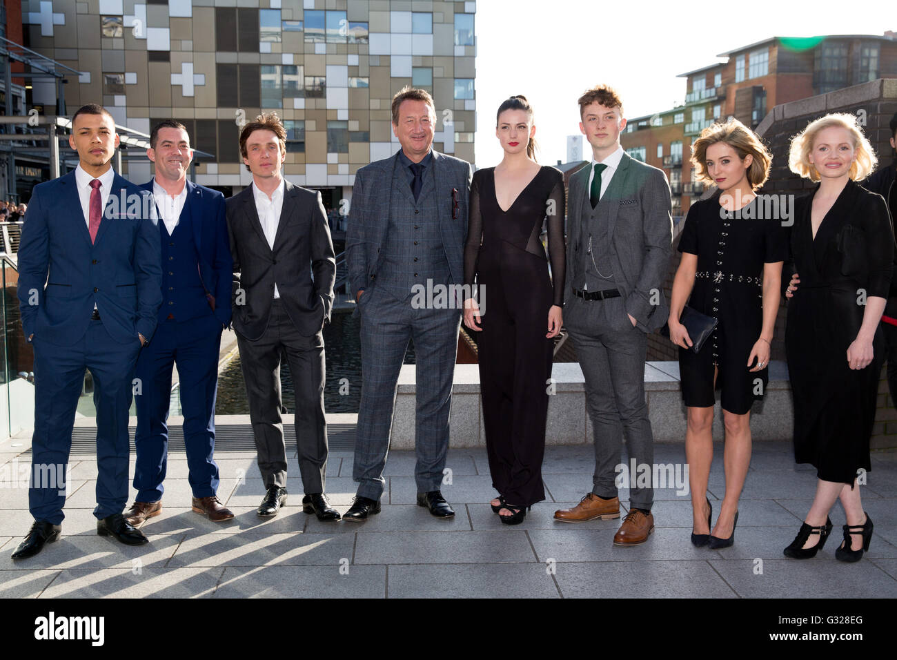 Members of the cast of Peaky Blinders with writer and creator Steven Stock Photo: 105156760 - Alamy