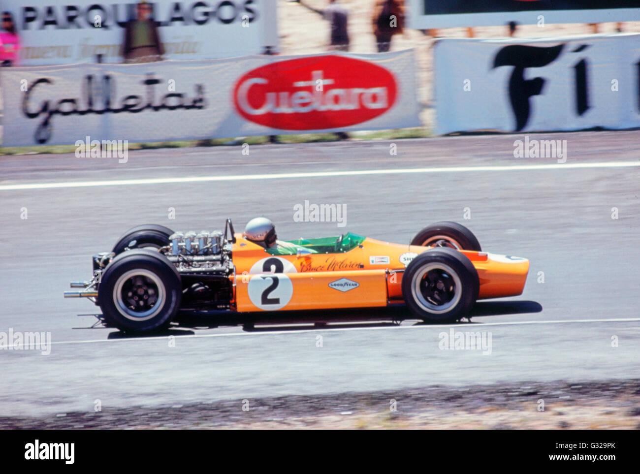 McLaren Ford, Bruce McLaren 1968 Dutch Grand Prix - Stock Image