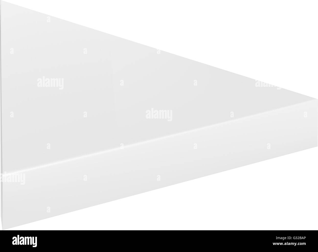 Tall white cardboard box isolated stock vector images alamy vector packaging white gray thin triangle packaging box on isolated white background mock maxwellsz